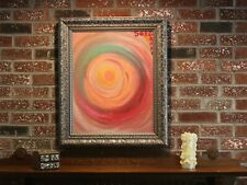 Contemporary  Oil painting on canvas, abstract, signed, Framed, Certificate