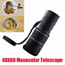 40X60 Monocular Telescope HD Optical Handheld Zoom Outdoor Travel Hunting Study