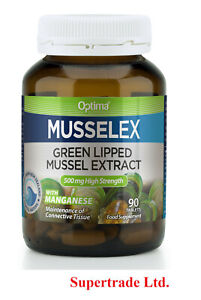 Optima Musselex Green Lipped Mussel Extract 500mg Musselflex - 90 Tablets