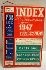 INDEX de la CINEMATOGRAPHIE Fr. -1947 à 1965  - TBE - RARE car série complète