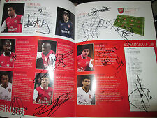 Arsenal 2007-2008 Squad Signed Blackburn Rovers Programme with COA /bi