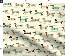 Dogs Wiener Dogs Dog Sweater Dog Clothes Spoonflower Fabric by the Yard