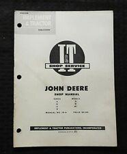 1953 JOHN DEERE A B D G H M MT 2-CYLINDER TRACTOR I&T SERVICE SHOP REPAIR MANUAL