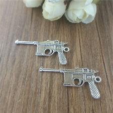 Wholesale 4pcs pistol silver Charm Pendant beaded Jewelry Findings DIY