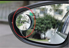 Fit Car Small Round Mirror Blind Spots Rearview Reverse Auxiliary Lens No border