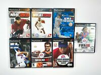 Sony Playstation 2 PS2 Sport Game LOT OF 7 NHL NBA MLB NASCAR GOLF SOCCER