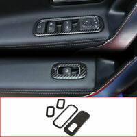 Carbon Fiber Style Window Lift Switch Cover Trim 4pcs For Benz A-Class W177 2019