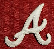 Atlanta Braves Retro White A Iron /Sew On Embroidered Patch ~ FREE SHIP! ~