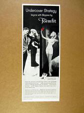1957 Formfit Skippies Bra Pantie Girdle woman dressed undressed photo print Ad