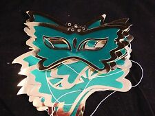 Cheap / Bargain Kids Party Metallic Green & Gold Butterfly Card Masks x Set of 8