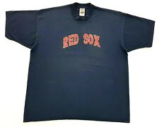 Vintage Boston Red Sox Win Like Mad Tee Navy Size XXL Mens T Shirt