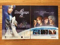 Xenosaga 2 Playstation 2 PS2 Vintage Game Poster Ad Advertisement Art Print Rare