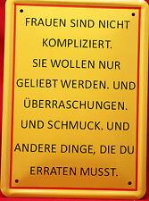 """***BLECHSCHILD**""""für Frauenversteher""""""""20x15cm"""