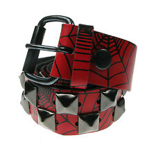 """38mm Pyramid Studded Printed Real Leather Belt Made In England Sizes 28""""-44"""""""
