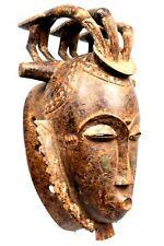 Art Africain Tribal - Imposant Masque Yohoure Yaouré - Yohure Mask - 40 Cms ++++