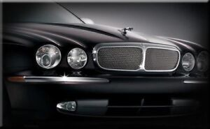 Jaguar XJ (X350) radiator Grilles, Stainless Steel mesh grille inserts
