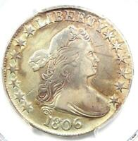 1806 Draped Bust Half Dollar 50C Coin - Certified PCGS VF Details!