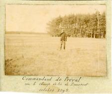 France, Commandant de Préval sur le champ de tir de Pierrepont, octobre 1898 vin