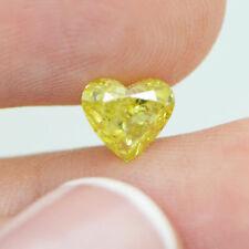 Heart Cut Diamond Yellow Color 1.27 Carat VS2 Natural Enhanced Real 6.50X6.43 MM