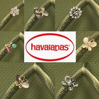 Original Havaianas SLIM Green Camo Crystal Or Personalized Crystal Charms