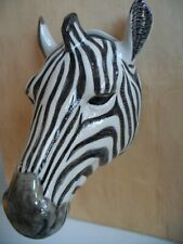 More details for beautiful quail ceramic large size zebra wall vase  boxed ideal gift