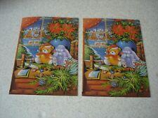 LOT de 2 CARTES de NOEL fantaisies avec enveloppes - NEUVES