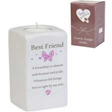 Said With Sentiment 7206 Square Ceramic Tealight Holder Best Friend