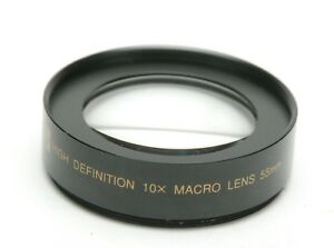 Opteka HD 10x Super Macro Lens With 55mm Thread. Made In Japan. Clean.