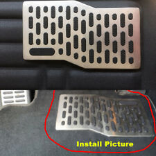 1x Stainless Car Floor Carpet Mats Patch Non-slip Heel Plate Foot Rest Pedal Pad