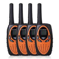 FLOUREON Walkie Talkie 4 Pack Set up to 5KM Two Way Radio 22 CH Interphone UHF