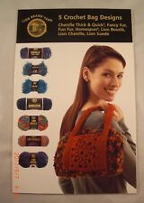 5 Crochet Bag Designs - Lion Brand Yarn - 5 Crochet Patterns