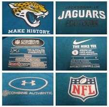 LOT 2 NFL Under Armour Combine & Nike Dri-Fit Jacksonville Jags Teal T-Shirts YL