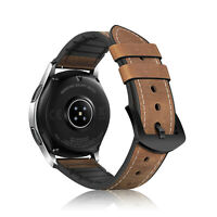 For Galaxy Watch 46mm / Gear S3 Frontier Classic Bands Vintage Leather Strap