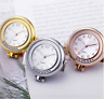 Stainless Steel Crystal Chest Pocket Watch Nursing Nurse Quartz Watch w/ Clip AU