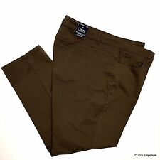 Chaps Madden Slim Leg Jeans Pants Size 24W Brown Slimming Fit Stretch Mid Rise