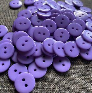 10 X Light Purple 15mm Two Hole Resin Buttons- Australian Supplier