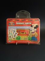 Vintage Disney Mickey Mouse Mickey Says Matching Game Audio Open Box USA 94