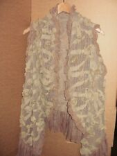 Luxury Women's Fine Knit Chiffon Rose Sleeveless Cape, RRP £34