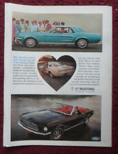 1966 Print Ad Ford Mustang Sports Car ~ Hardtop, Convertible, Fastback BRED 1st