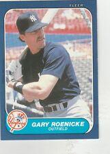 FREE SHIPPING-MINT-1986 (YANKEES) Fleer Update #98 Gary Roenicke