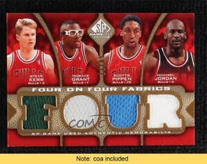 2009-10 SP Game Used Four on Four Fabrics 11/65 Michael Jordan Magic Johnson