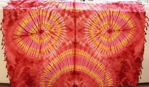 New Sarong Pareo Bikini Women Dress Swimwear Swimsuit Cover Up Rayon Tie Dye 16