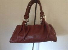 Miu Miu Mahogany Brown Pebbled Leather Silver Hardware hobo Hand Bag Purse