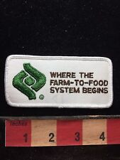 WHERE THE FARM TO FOOD SYSTEMS BEGINS Farm / Ag Related Advertising Patch 75WQ