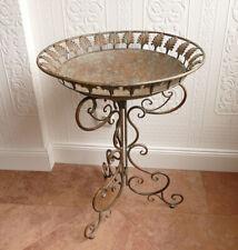 Tisch Beistelltisch Ständer Vogeltränke Blumenständer Tabletttisch Metall Vogel