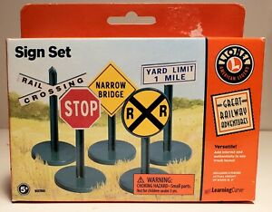 1999 Learning Curve Lionel Great Railway Adventures - Sign Set - New