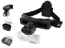 Magnifier Magnifying Head Visor Set Eyeglass LED Light Up To 15X Illuminated