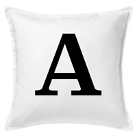 Personalised White Cushion Covers Choose Your Letter Custom Sofa Daybed Pillows