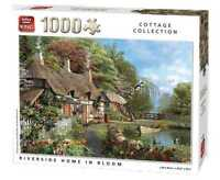1000 Piece Cottage Collection Jigsaw Puzzle Toy - Riverside Home In Bloom 05718