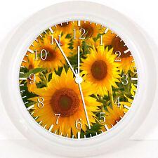 "Sun Flowers 10"" wall Clock X19 nice Gift or Room wall Decor NEW"